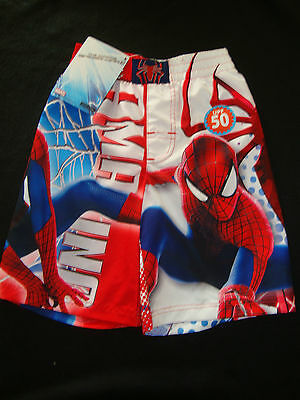 Marvel Spiderman  Swimshorts Nwt  Graphics Front & Back