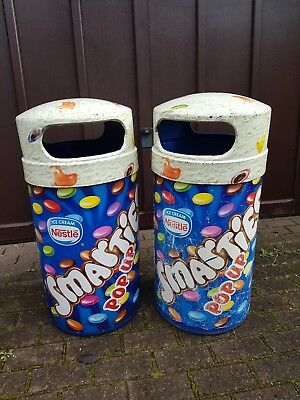 "1 Pair Of """"smartie"" Branded Waste Bins , Used But Loads Of Life Left ."