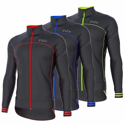 FDX Mens Cycling Jacket Wind stopper Thermal Softshell Breathable Running Jacket