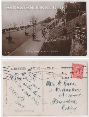 Early Postcard, Essex, Westcliff On Sea, Marine Drive People Outside, RP