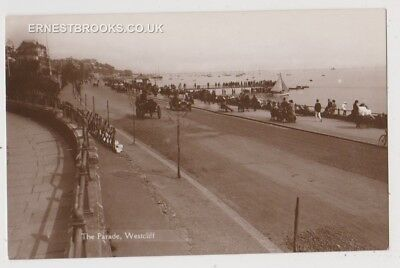 Early Postcard, Essex, Westcliff On Sea, The Parade, People On Jetty RP