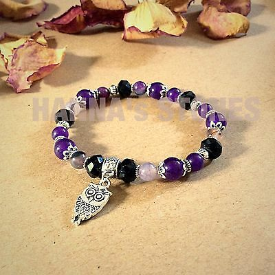 Handmade bracelet with amethyst gemstones