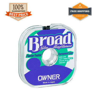 Owner BROAD Nylon Monofilament Fishing Floating Line Green 100 m / 110 yds