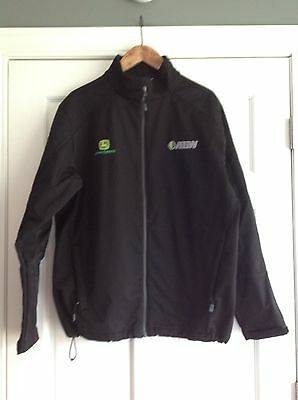 John Deere AHW Dealership Employee Jacket Windproof Mens Size Large
