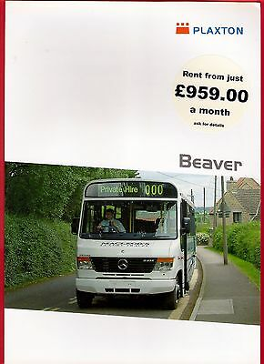 Bus Manufacturers Specification Sheet ~ Plaxton Beaver - Mercedes Vario: 2005