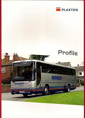 Bus Manufacturers Specification Sheet ~ Plaxton Profile - Hornsby: Javelin: 2004