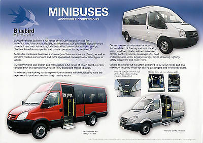 Bus Manufacturers Specification Sheet ~ Bluebird Minibus Conversions - c.2010