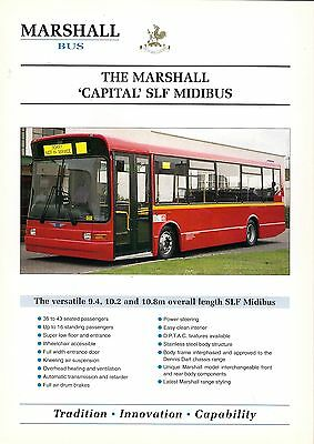 "Specification Sheet ~ Marshall - ""Capital"" SLF Midibus: Dennis Dart: Centrewest"