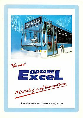 Bus Manufacturer Specification Brochure ~ Optare Excel - Blackpool etc - 1996