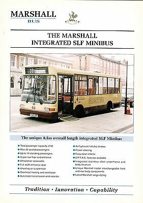 Specification Sheet ~ Marshall - Integrated SLF Minibus: Integral: Chester 49