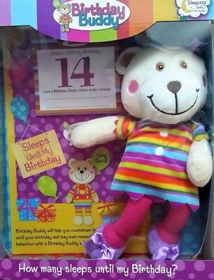 Birthday Buddy Bear Girl. Countdown Calendar. Reward Stickers. 3 yrs +