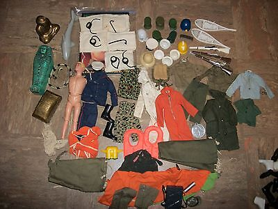 Lot of Vintage G.I Joe Accessories, Foot Locker, Clothing, Weapons & More, LQQK