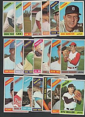 Lot of 21 Nice Clean Mid Grade 1966 Topps Baseball Cards - Numbers Listed