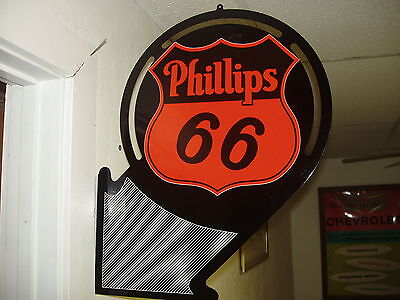 1930S -1950S  Phillips 66  Arrow Style Ad Sign