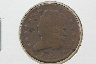 1829 Half Cent G Pitted