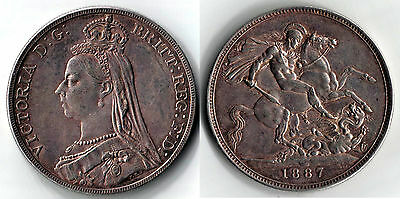 1887 VICTORIA CROWN Jubilee HEAD Silver COIN => PRICE REDUCED !!!!