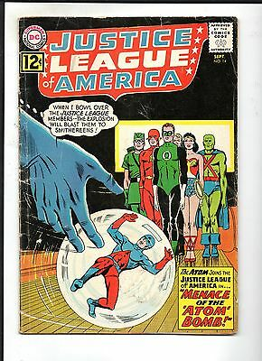 Justice League Of America Vol 1 # 14 / Dc 1962 / Gd. / Atom Joins Legion.