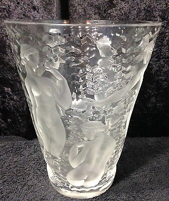 Lalique Ondines Vase Signed Lalique France