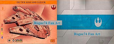 Custom Rogue74 Fan Art OUTER RIM SMUGGLER(YT-1300) for X-Wing Miniatures