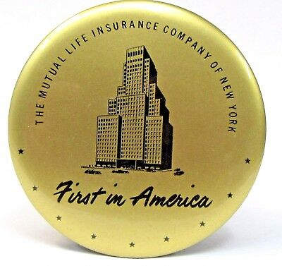 1940's MUTUAL LIFE INSURANCE CO. OF NEW YORK advertising celluloid valet brush *