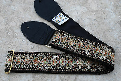 SOULDIER Guitar Strap PERSIAN Black // Vintage Style Custom Woven Tapestry