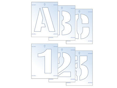 Scan SCA9406 Letter & Number Stencil Kit 100mm FREE POST