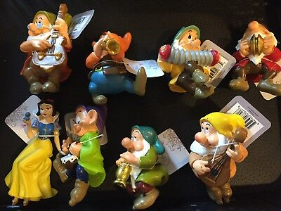 NWT Disney Princess Snow White & Seven Dwarfs Set Flower Pot Hangers  Garden