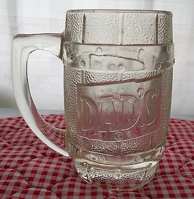 Vintage Clear Glass Dad's Mug