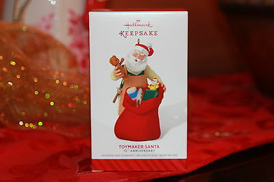Hallmark 2014- Limited Edition - 15th Anniversary - Toymaker Santa Ornament, New