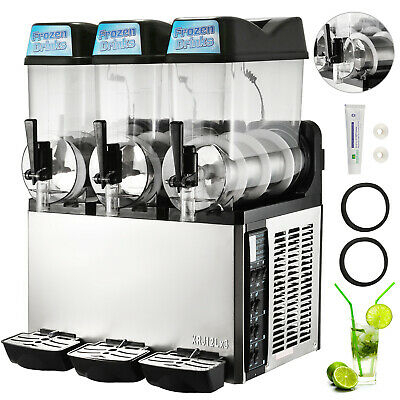 3 Tanks 36L Commercial Frozen Drink Slush Slushy Machine Margarita  Slurpee