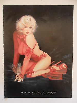 OLIVIA De Berardinis Sexy Girl Magazine Pin-Up ~ Something with Your Champagne