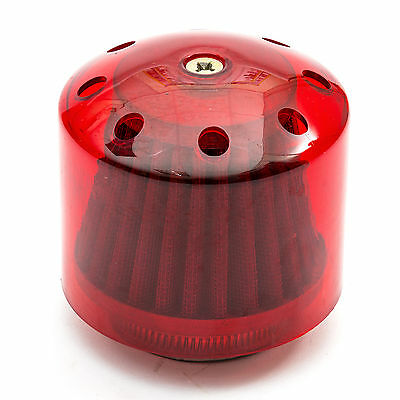 Pit Dirt Bike 44mm 42mm 40mm K N Air Filter Water Cover Red Straight Neck 125