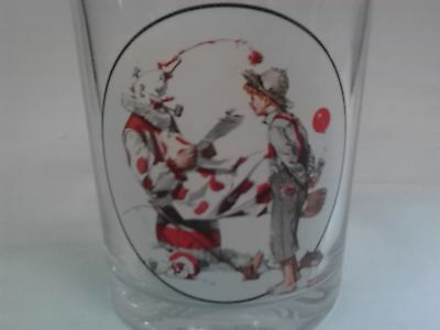 The Saturday Evening Post Norman Rckwell Off Duty Clown Glass