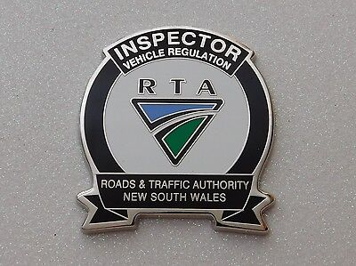 Roads &Traffic Authority NSW Inspector Vehicle Regulation obsolete replica Badge