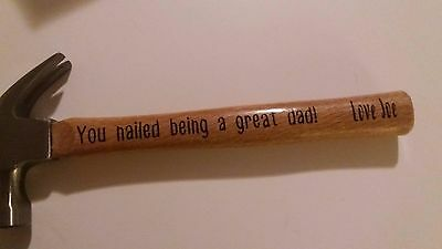 Personalized Fathers Day Hammer Gift For Him Dad Grandpa Birthday