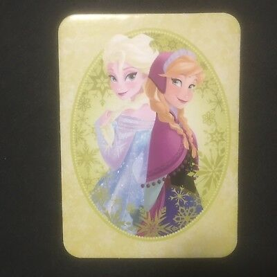 Disney Frozen. Trading cards Large thick firm. 10 x 7 cm Brand New. Elsa & Anna.