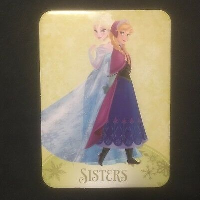 Disney Frozen. Trading cards Large thick firm. 10 x 7 cm New. Sister Elsa & Anna