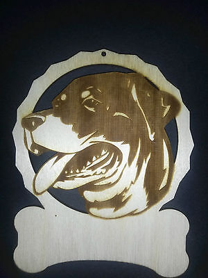 Personalized Rottweiler dog ornament