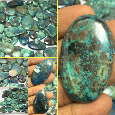 Natural Beautiful Azurite Amazing Color Cabochon Gemstone Lot in Wholesale Price