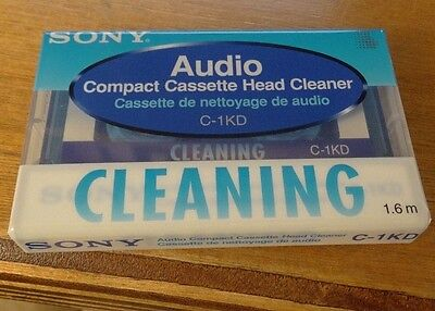 Sony brand new compact cassette head cleaner c-1kd