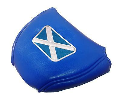 Scotland Leatherette Mallet Putter Cover - Blue