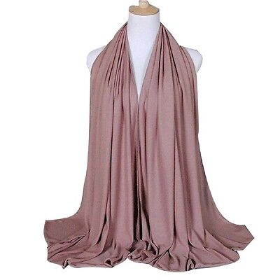 Cotton Jersey Hijab Ladies Wrap Hijab lightweight plain soft scarf hijab