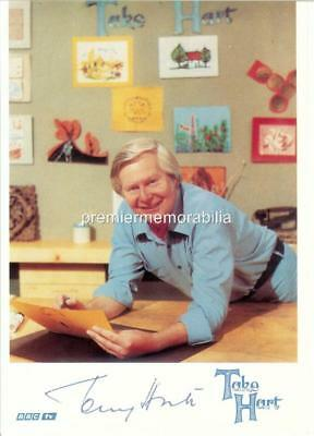 Tony Hart Signed (Pre-Printed) Take Hart A4 Print