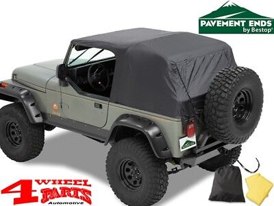 Emergency Top Notfall Softtop Verdeck Pavement Ends Jeep Wrangler YJ Bj. 92-95