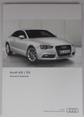 New Genuine Audi A5 S5 Owners Manual Handbook – 05/2012 Edition