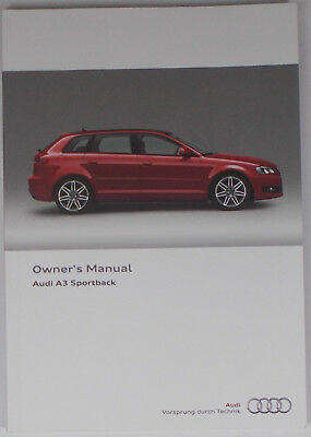 new genuine audi a3 sportback 8p owners manual handbook 11 2007 rh picclick co uk Audi SUV 2014 Audi A4