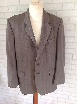 Vintage Men's 1970's Marks and Spencer Pure New Wool Brown Suit Jacket Size 42""