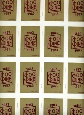 Double Uncut Sheet SOO Line Railroad Playing Cards by Hoyle
