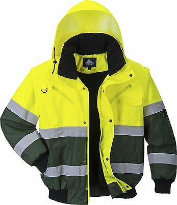 Portwest X Hi-Vis Bomber Jacket Workwear Warmth roadworks Weather protect C565