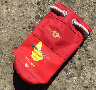 MOUNT GAY BARBADOS RUM Alcohol Promotional Collectable Wine Bottle Bag **NEW**